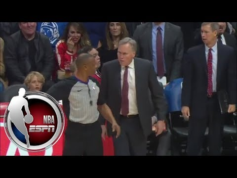 Mike D'Antoni Says Blake Griffin Intentionally Hit Him | NBA On ESPN