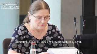 Krystyna Pawłowicz argumentuje, dlaczego nie nadaje się na sędziego TK.