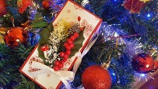 Открытка на новый год своими руками оригами