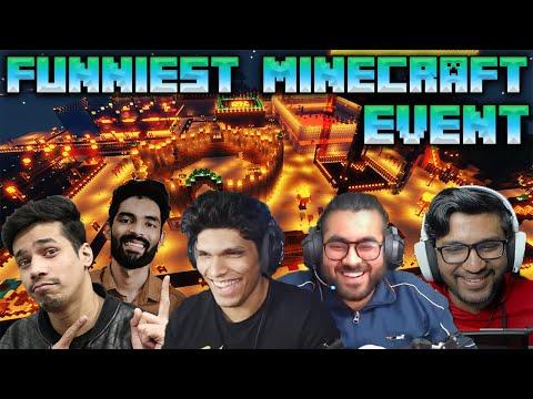 Funniest Minecraft Event  Ft. @Mythpat, @Hitesh KS, @Navrit Gaming, @Onespot Gaming & @Ayush More