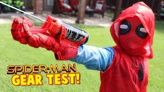 Video Spider-Man Homecoming Movie Gear Test! Real Web Shooters for Kids! Toys Review by KIDCITY MP3, 3GP, MP4, WEBM, AVI, FLV Oktober 2017