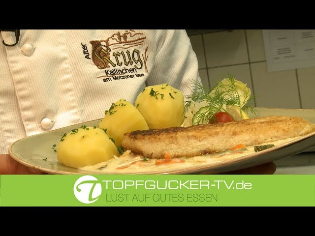 """Zander """"Spreewälder Art""""   Rezeptempfehlung Topfgucker-TV"""