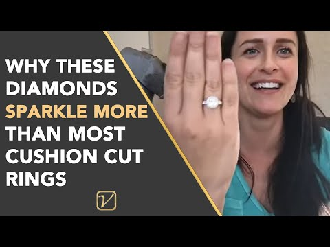 CUSHION CUT HALO RING | Why the diamonds SPARKLE more than most Cushion Cut Diamond Engagement Rings