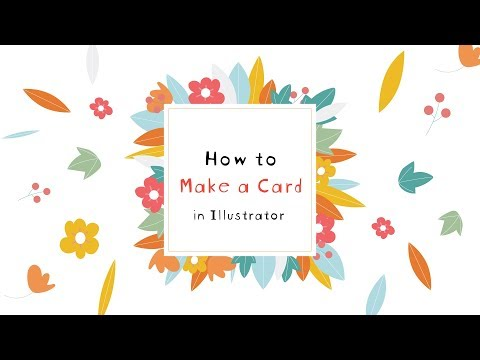 How To Make A Printable Holiday Card - Adobe Illustrator Tutorial