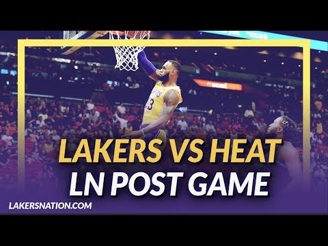 Video: Lakers Discussion: Lakers beat the Heat, LeBron James Drops 51, and KCP has 19 off the Bench