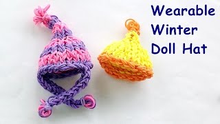 Barbie Loom Bands Winter Hat Charm Tutorial - How To Make On The Rainbow Loom
