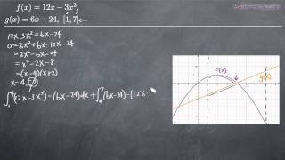 Area Between Curves Example 3