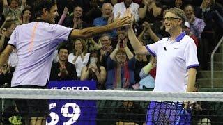 Federer & Bill Gates took on Isner & McCready for Roger Federer's Foundation, Match for Africa.