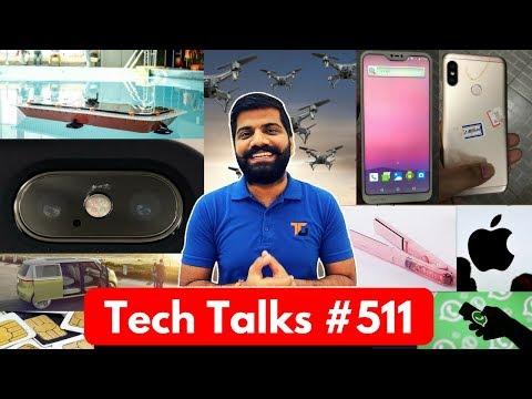 Tech Talks #511 - Self Driving Boat, Redmi 6, Snapdragon 710, Mi Credit, Google Lens (видео)