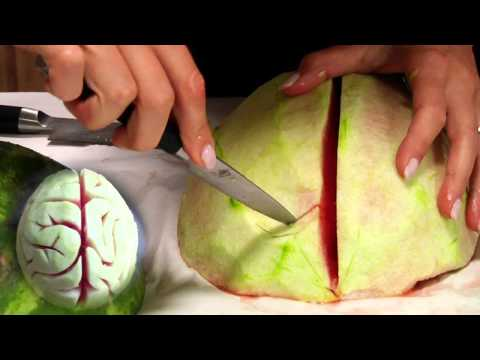 halloween ideas - Whip up some creepy fun with our watermelon brain tutorial this Halloween. Whether it's a festive centerpiece or a haunted house display, this DIY is sure to...