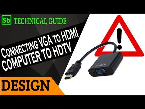 HDMI to VGA adopter used wrongly as VGA to HDMI