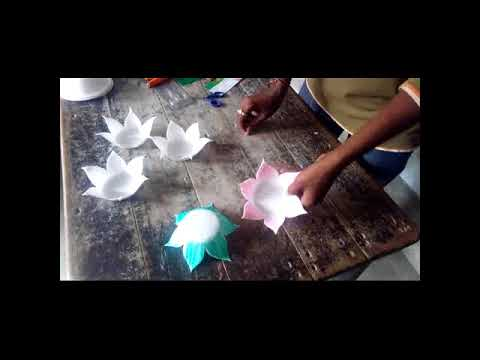 How To Make A Lotus By Thermocol Action News Abc Action News Santa
