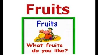 Fruits vocabulary for kids, English for kids