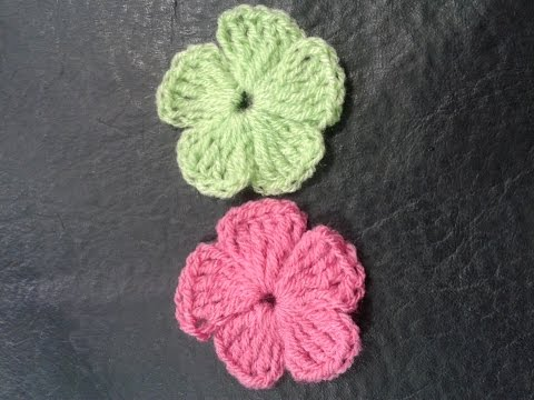 Como tejer flores de 5 petalos a crochet muy facil!// Tejemos?!