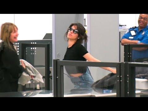Camila Cabello Turns LAX TSA Into A Runway, Striking Poses For The Paparazzi!