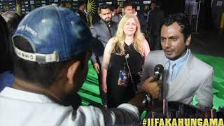 At the green carpet of IIFA New York, Bollywood Hungama spoke to Nawazuddin Siddiqui and he spoke about his 'Munna Michael' co-star Tiger Shroff. He said Tiger Shroff is his guru and that he had taught him dancing. He also told that not getting an award doesn't affect him now. Must Watch!Report: Faridoon ShahryarVideo Courtesy: Farrukh JilaniWatch more Exclusive Celebrity Interviews right here http://www.bollywoodhungama.com/Like BollywoodHungama on Facebook:https://www.facebook.com/bollywoodhungamacomFollow BollywoodHungama on Twitter:https://twitter.com/BollyhungamaCircle BollywoodHungama on G+:http://bit.ly/1uV6Qba