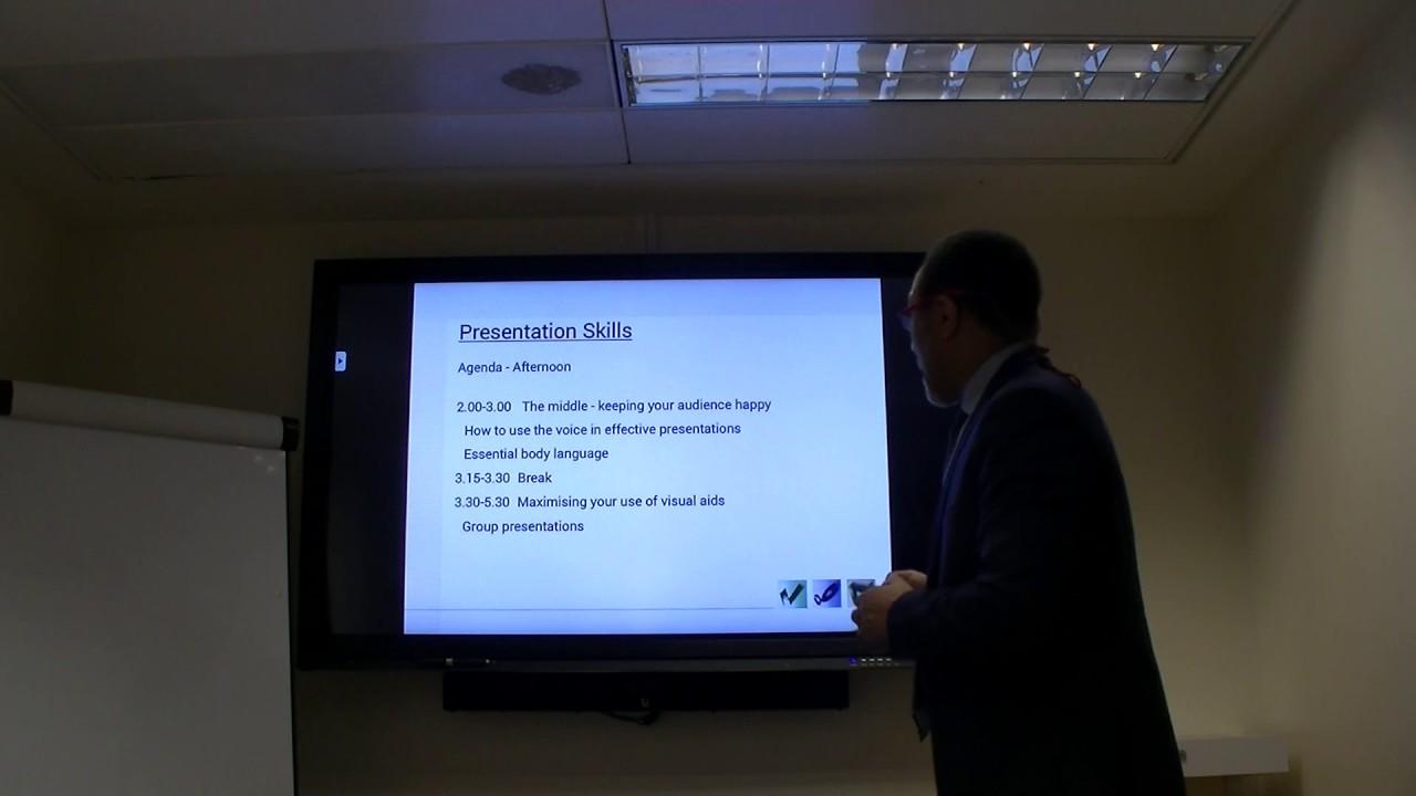 Presentation Skills - Poor Presentation Example