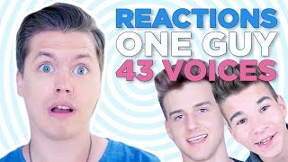 THIS PISSES ME OFF - Reacting to One Guy, 43 Voices Reactions