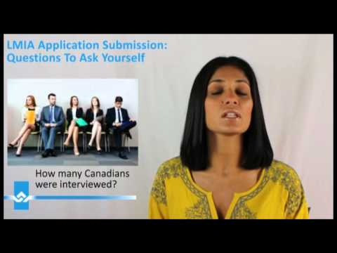 LMIA Application Submission Questions To Ask Yourself Video