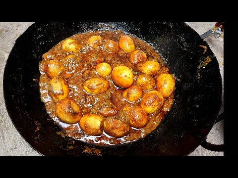 Enjoying Spicy Egg Masala Curry | spicy anda masala