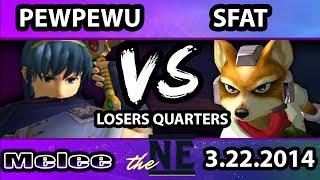 Melee Sets: PewPewU (Marth) vs SFAT (Fox) – MORE GIFS INSIDE!