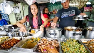 Video Philippines Street Food - AMAZING Filipino Food at Aling Sosing's Carinderia in Manila! MP3, 3GP, MP4, WEBM, AVI, FLV Februari 2019