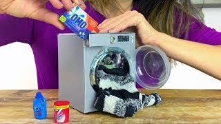 Washing Machine DIY Miniature for Barbie Doll