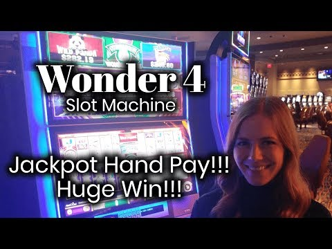 Wonder 4 Slot Machine! Jackpot Handpay! HUGE WIN!