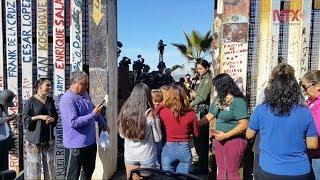 Apertura en muro fronterizo de Tijuana provoca alegría y tristeza