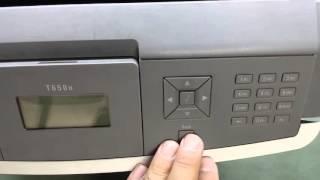 """Lexmark T650n Laserjet yazıcılarda sayaç nasıl sıfırlanır(Counter Reset)? konusunu uygulamalı olarak anlattık. Cihazımızda """"Rutin Bakım zamanı"""" yada """"bakım kiti değiştirin"""" mesajları çıkmaya başladığında bu teknik ile yazıcımıza masraf yapmadan biraz daha kullanabiliriz. Yoksa bakım kiti alıp neredeyse yazıcının fiyatının yarısı kadar masraf yapmanız gerekecektir."""