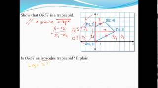 Proving that a quadrilateral is a trapezoid using coordinate g...