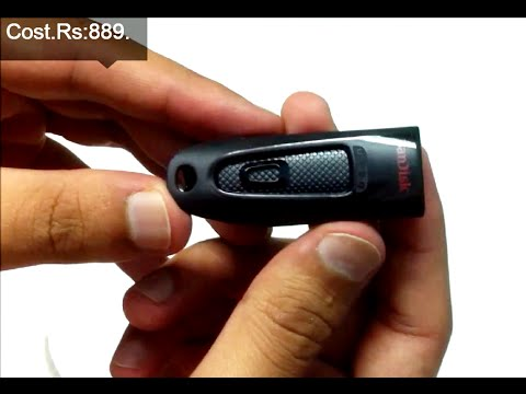 SanDisk Ultra 32GB USB 3.0 Pen Drive Unboxing And Review (INDIA)