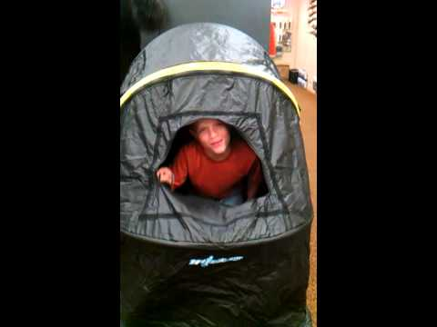 Funny kid in Tent