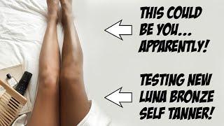 TESTING ORGANIC LUNA BRONZE SELF TANNER! by Wayne Goss