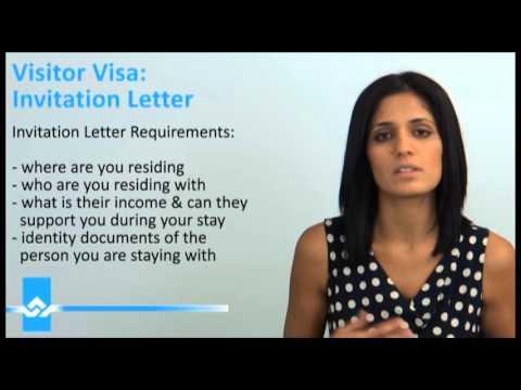 Canada Visitor Visa Invitation Letter Video