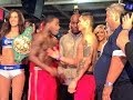 Adrien Broner vs Marcos Maidana WEIGH IN Gets Heated!