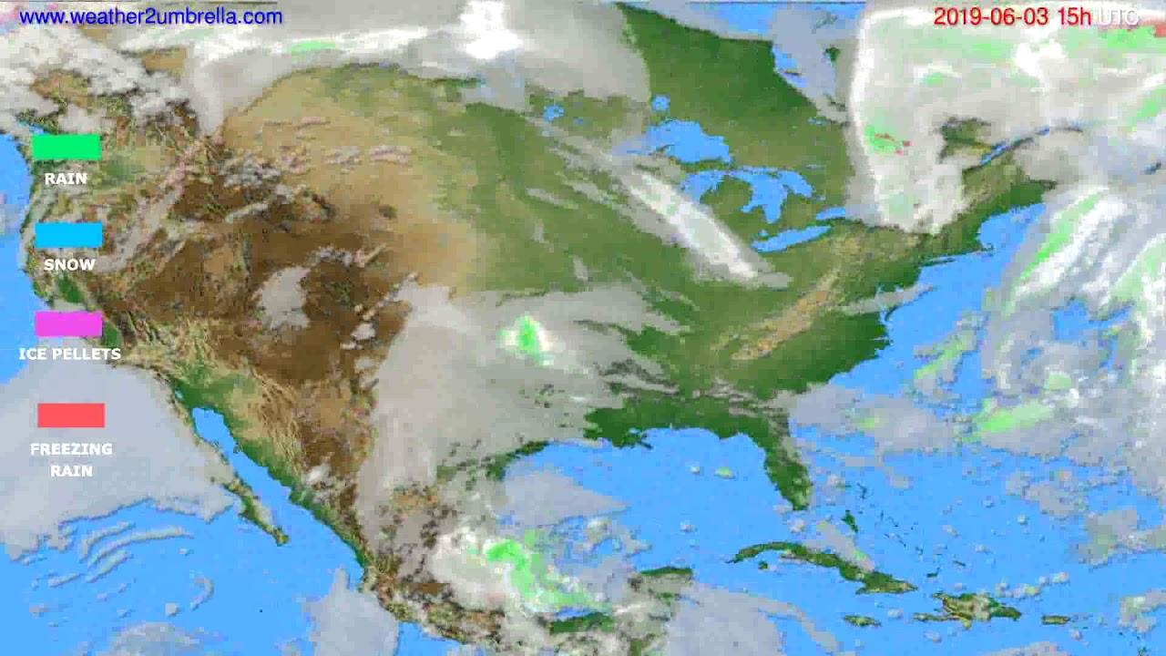 Precipitation forecast USA & Canada // modelrun: 12h UTC 2019-05-31