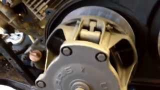 10. 2001 Polaris Trailboss 325 CVT in action and drive belt replacement