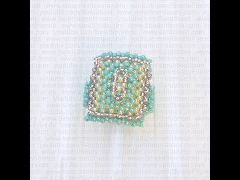 Right Angle Weave tutorial: How to make a bead ring (RAW)   Beading Tutorial