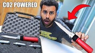 Video I Bought A $500 CO2 INJECTION KNIFE!! (World's Strongest) *DESTROYS INSIDE OF TARGET* MP3, 3GP, MP4, WEBM, AVI, FLV Juni 2019