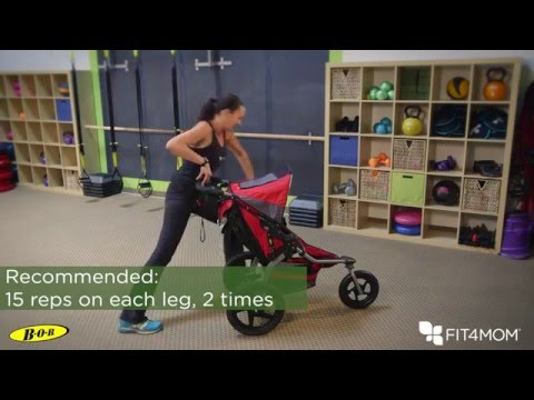 BOB and FIT4MOM Stroller Exercises - Peekaboo Lunge, Toe-Tickler Plank
