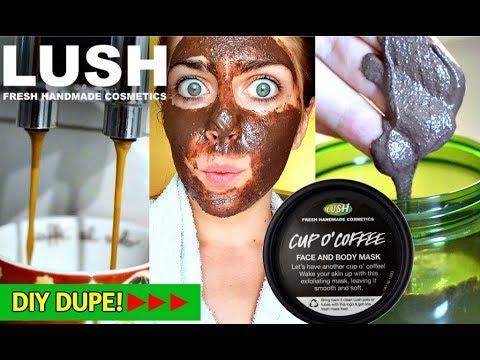 DUPE LUSH maschera viso al  caffè fai da te FACILE con vero espresso☕! maschera viso idratante diy