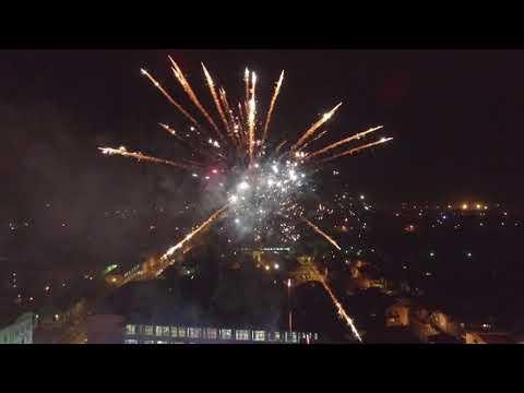 Otvaranje klizališta i vatromet snimljeno dronom