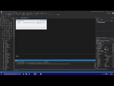 Visual Studio 2013 | How to use Progress-bar | Start/Stop/Reset Buttons