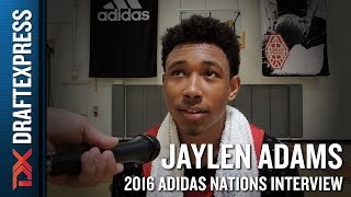 Jaylen Adams Interview from 2016 Adidas Nations