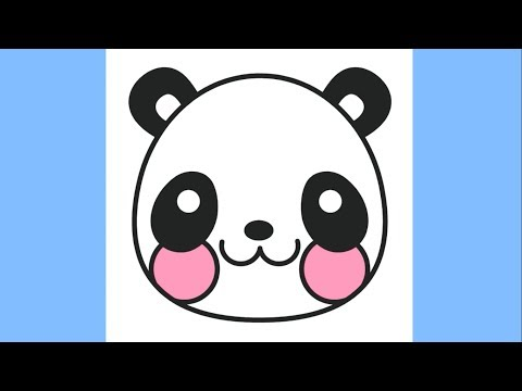 How to draw a Cute Panda Emoji - Coloring Pages for Kids Panda Face - Coloring book