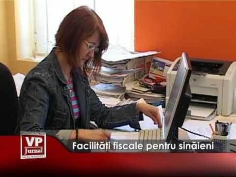 Facilităţi fiscale pentru sinăieni