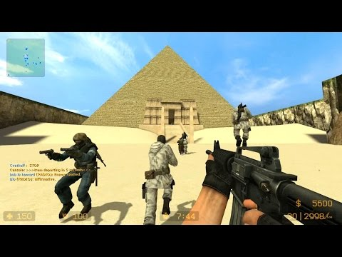 Counter Strike Source - Zombie Escape mod Multiplayer Gameplay Walkthrough on Stargate map