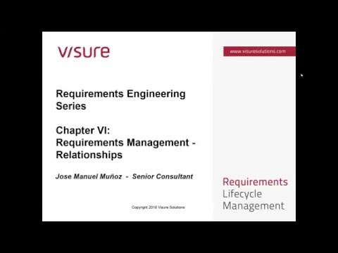 Chapter VI - Requiremetns Traceability