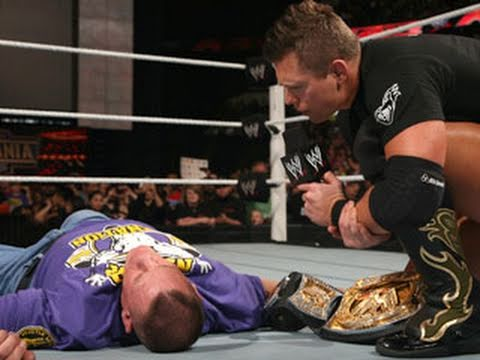 0 The Miz Hits The Peoples Elbow on John Cena